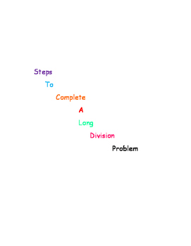 Steps to Complete a Long Division Problem