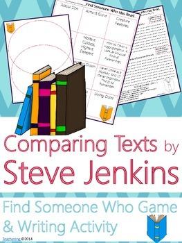 Steve Jenkins Author Study {NO PREP Writing Activities & Game}