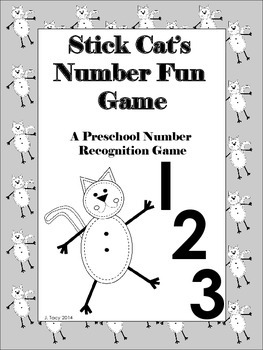 Stick Cat Number Fun - A Preschool to Kindergarten Number