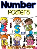 Stick Kid Number Posters {0-20}