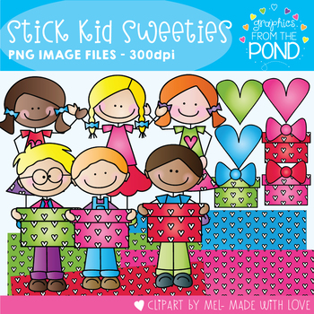 Stick Kid Sweeties - Clipart for Teaching Resources
