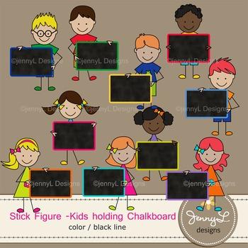 Chalkboard Stick Kids