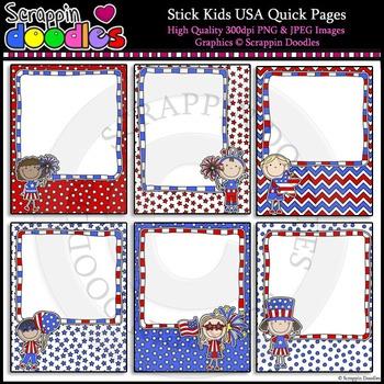 Stick Kids USA 8 1/2 x 11 Ready Pages