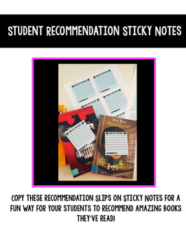 Stick Note Recommendations