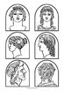 Stick Puppet Templates - Greek / Roman people
