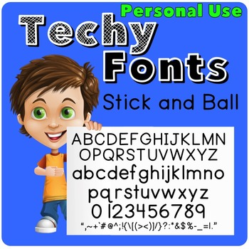 Stick and Ball Font for Personal Use