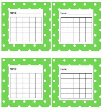 Sticker Chart Polka Dot Light Green