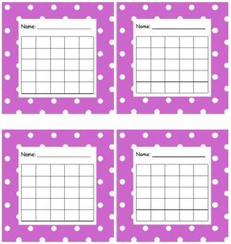 Sticker Chart Polka Dot Purple