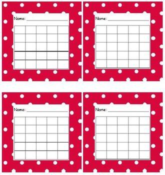 Sticker Chart Polka Dot Red