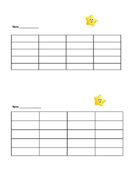 Sticker Chart Sheets