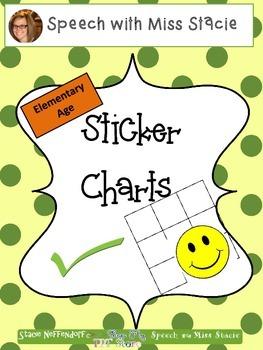Back to School Sticker Charts