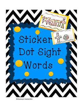Sticker Dot Sight Words