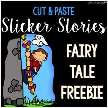 Sticker Story Cut and Paste Freebie NO PREP