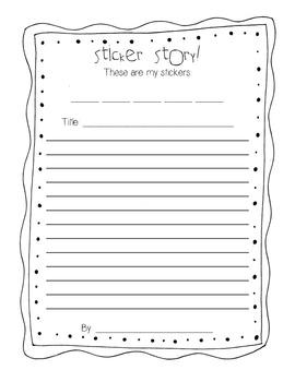 Sticker Story Writing Activity