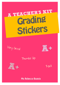 Stickers to Help you Grade Homework