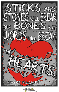 Sticks and Stones Bullying Prevention Poster
