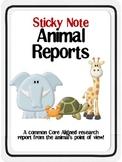 Sticky Note Animal Report