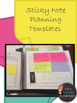 Sticky Note Planning Template