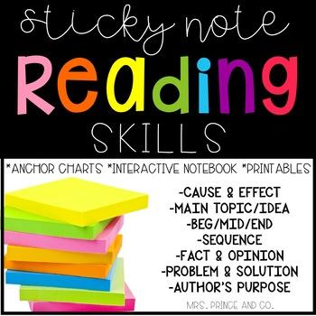Sticky Note Reading Skills