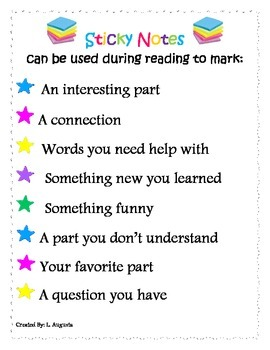 Sticky Notes Poster ENGLISH