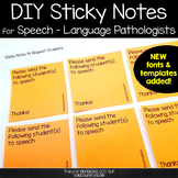 Sticky note bundle pack for SLPs