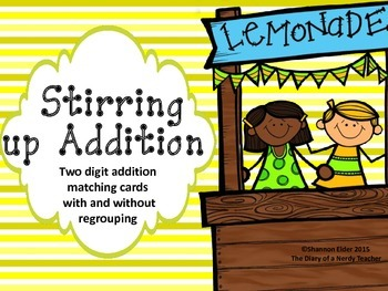 Stirring up Addition - 2 digit addition PREVIEW for Carniv