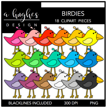 Stitched Birdies {Graphics for Commercial Use}