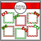 FREE Stitched Christmas Bow Frames {Graphics for Commercial Use}