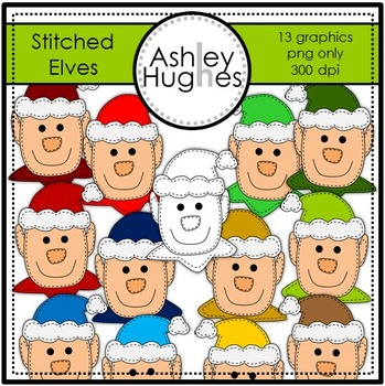 Stitched Elves {Graphics for Commercial Use}
