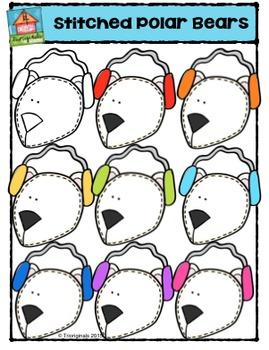 Stitched Polar Bear Heads {P4 Clips Trioriginals Digital C