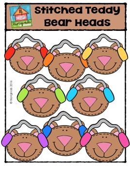 Stitched Teddy Bear Heads {P4 Clips Trioriginals Digital C