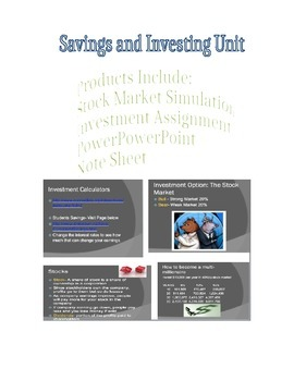 Stock Market, Savings and Investing Unit