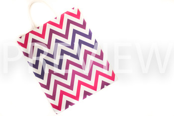 Stock Photo: Chevron Gift Bag -Personal & Commercial Use