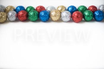 Stock Photo: Christmas Ball Garland (Glitter) #2 -Personal