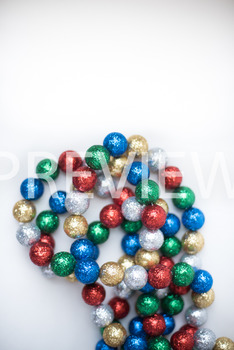 Stock Photo: Christmas Ball Garland (Glitter) #4 -Personal
