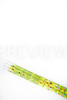 Stock Photo: Christmas Happy Birthday Jesus Pencils #2-Per