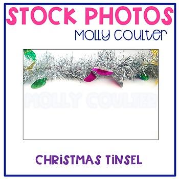 Stock Photo: Christmas Tinsel Garland/Banner -Personal & C