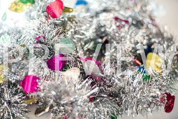 Stock Photo: Christmas Tinsel Garland Pile-Personal & Comm