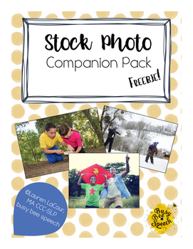 Stock Photo Companion Pack for SLPs