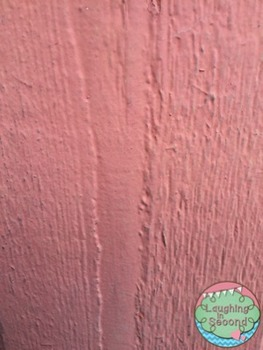 Stock Photo - Coral Painted Wood