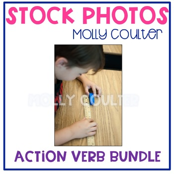 Stock Photo: Action Verbs Set with Students-Personal & Com