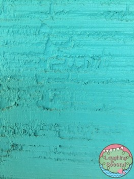 Stock Photo - Teal Painted Wood
