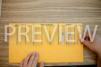 Stock Photo: Place Value Chart -Personal & Commercial Use