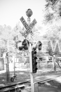 Stock Photo: Railroad Crossing Sign -Personal & Commercial Use