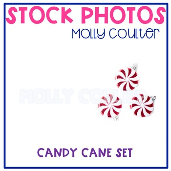 BUNDLE Stock Photo:Christmas Candy Cane Ornaments -Persona
