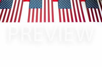 Stock Photo Styled Image: American Flag Banner-Personal &