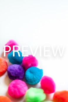 Stock Photo Styled Image: Bright PomPoms #1 -Personal & Co