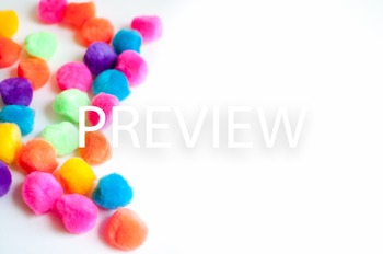 Stock Photo Styled Image: Bright PomPoms #2 -Personal & Co