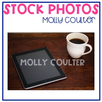 Stock Photo Styled Image: Coffee & iPad #2-Personal & Comm