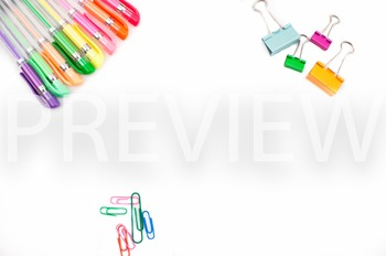 Stock Photo Styled Image: Desk Supplies #1 -Personal & Com